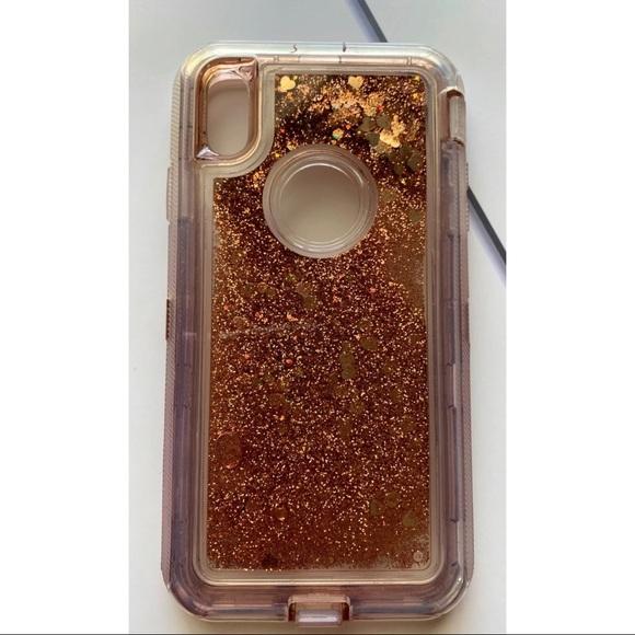 Heavy Duty Liquid Quicksand Glitter Case
